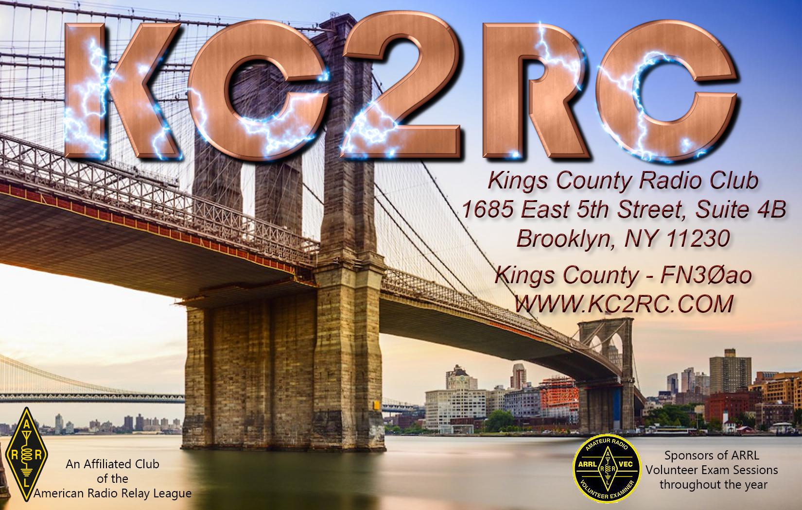 KC2RC QSL Card - 1bbbcp